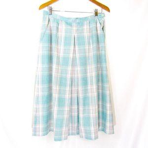 Vintage Pendleton Silk Blend Plaid Tartan Skirt